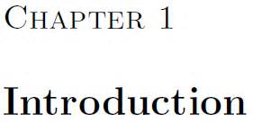 Thesis in latex